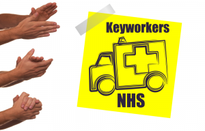 Applause for Keyworkers and NHS staff from RK Alker Children's Author Cook Grower Food Evangelist 999 Ambulanceman of Ecky Thump Digital Local SEO and Website Optimisation